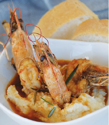 Langlois bowl of shrimp and grits