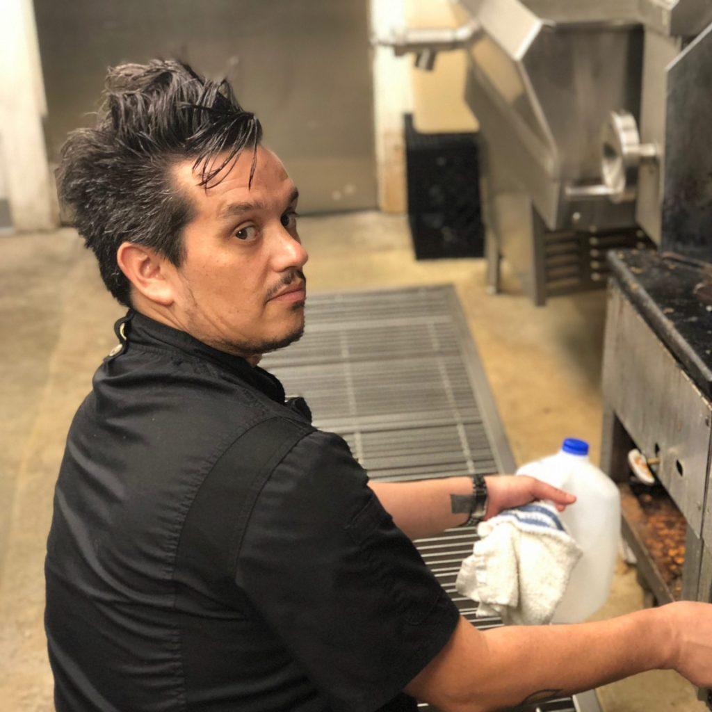 Chef Octavio in the kitchen
